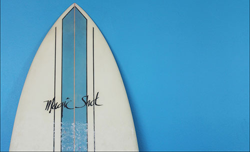 dusty surfboard