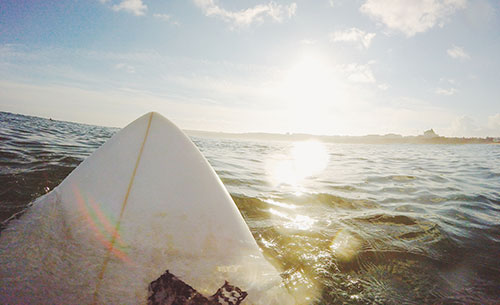 surfboard is made out of Expanded Polystyrene (EPS) Foam