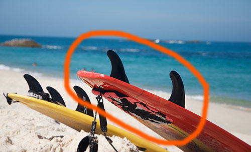 variety of surfboard fins