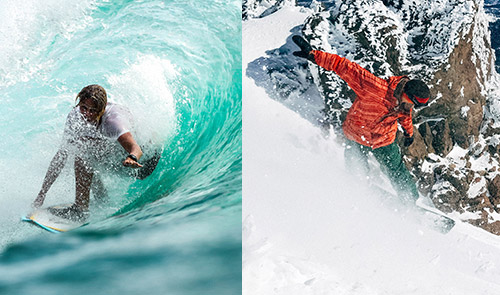surfing vs snowboarding