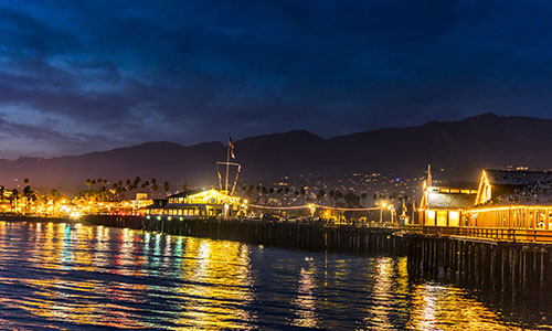 Stearns Wharf in Santa Barbara California